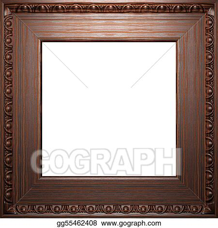 Antique Frame Drawing Inside Wooden Antique Frame Stock Illustration Wooden Clipart Drawing