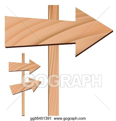 stock illustration wooden arrow sign clipart illustrations