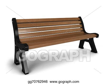 Groovy Stock Illustration Wooden Bench Clip Art Gg70762946 Gograph Pabps2019 Chair Design Images Pabps2019Com