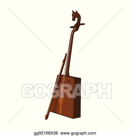 Vector Stock Wooden Musical Instruments Of Mongol Tional Music