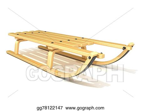Stock Illustration Wooden Sledge Clipart Drawing Gg78122147 Gograph
