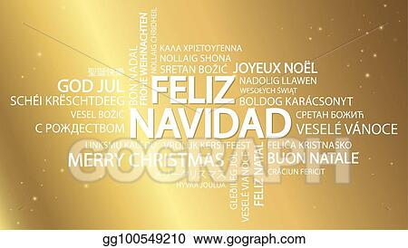 word cloud merry christmas in spanish