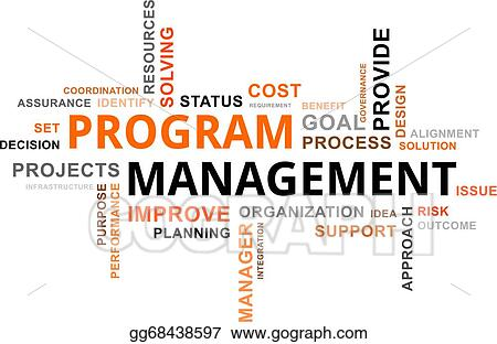 vector art word cloud program management eps clipart gg68438597 rh gograph com clip art programs for windows clip art programs for windows