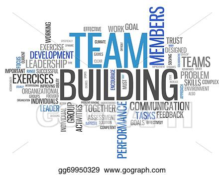 stock illustration word cloud team building clipart drawing rh gograph com team building activities clipart Fun Team Building Clip Art