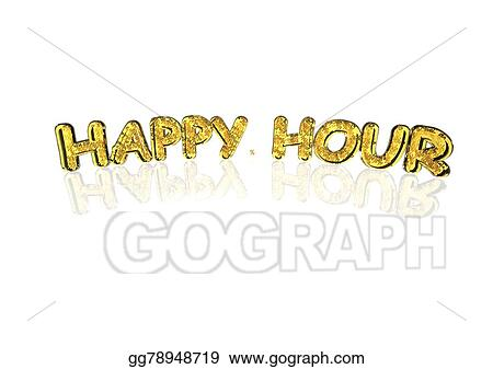 Drawing Word Happy Hour Made From Percentage Symbols Clipart