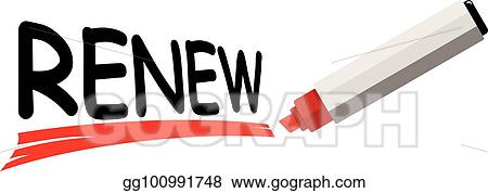 Vector Art Word Renew Eps Clipart Gg100991748 Gograph