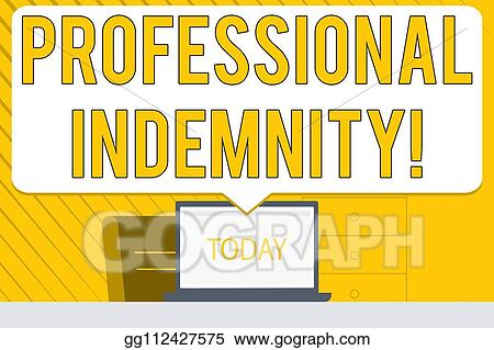 Clip Art - Word writing text professional indemnity ...