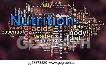 stock illustrations wordcloud of nutrition stock clipart