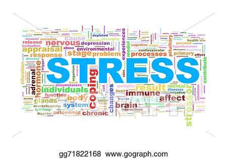 stock illustrations wordcloud word tags of stress stock clipart