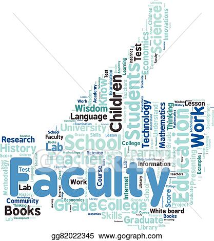 vector clipart words cloud related to education and relevant