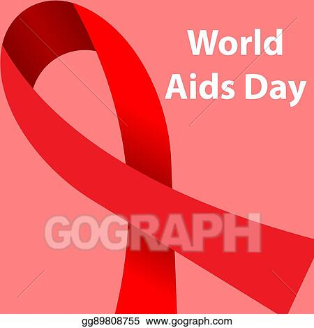 EPS Vector - World aids day concept poster  Stock Clipart