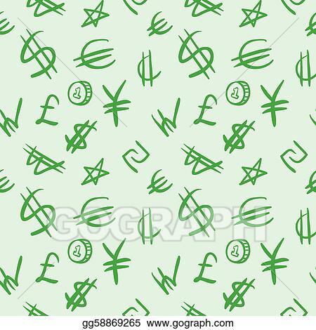 Vector Clipart World Currency Symbols Vector Illustration