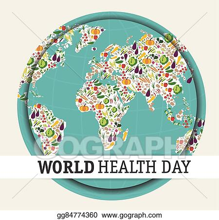 Eps illustration world health day vector clipart gg84774360 gograph eps illustration nutrition food for healthy life world health day concept cartoon world map vector clipart gg84774360 gumiabroncs Images