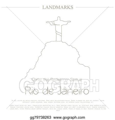 Vector Art World Landmarks Rio De Janeiro Clipart