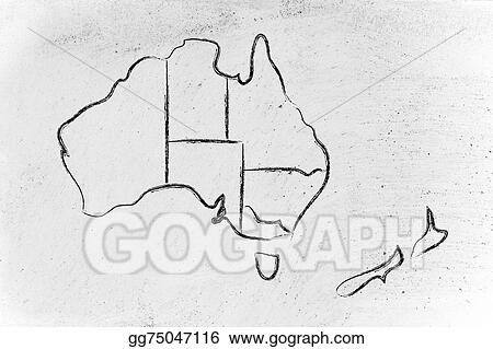Drawing world map and continents borders and states of australia world map and continents borders and states of australia gumiabroncs Image collections