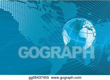 Eps vector world map globe background stock clipart illustration world map globe background gumiabroncs Gallery