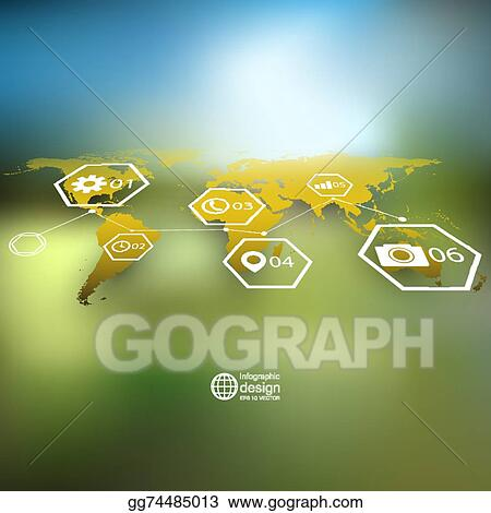 Vector art world map in perspective blurred infographic vector world map in perspective blurred infographic vector template for business design gumiabroncs Images