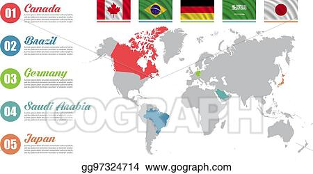 Clip Art Vector - World map infographic. slide presentation. canada ...