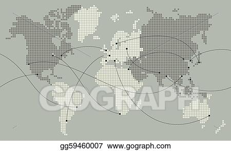 Vector art world map made out of small squares clipart drawing world map made out of small squares gumiabroncs Gallery