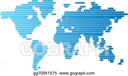 Eps illustration world map of blue rounded lines vector clipart world map of blue rounded lines gumiabroncs Choice Image