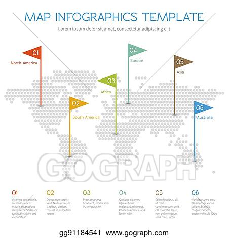 Vector Illustration World Map Of Hexagon Internet Vector Infographic With Business Charts And Diagrams Stock Clip Art Gg91184541 Gograph