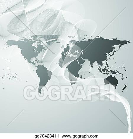 Vector art world map on the gray smoke background vector vector art world map on the gray smoke background vector clipart drawing gg70423411 gumiabroncs Gallery