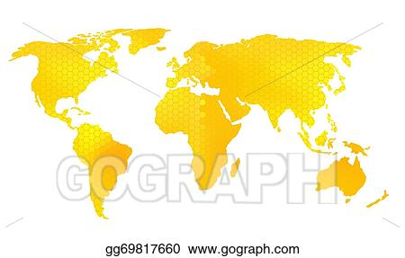 Vector art world map vector illustration honeycomb pattern world map vector illustration honeycomb pattern gumiabroncs Image collections