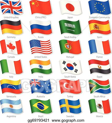 eps illustration world top countries vector national flags vector rh gograph com clip art flagship cinemas clip art flags and banners