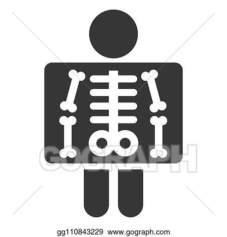 Vector Art X Ray Simple Icon On White Background Vector Clipart Drawing Gg110843229 Gograph