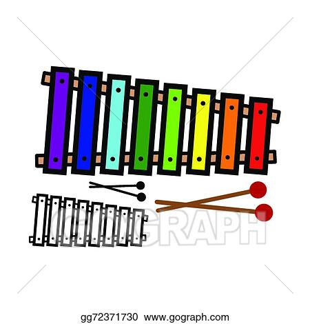 eps illustration xylophone vector clipart gg72371730 gograph rh gograph com simple xylophone clipart xylophone clipart images