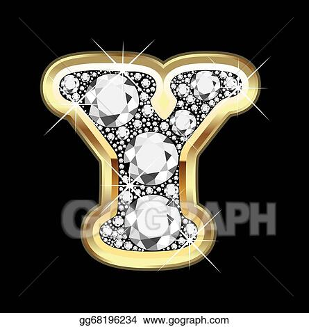 a9b213de4f8 EPS Vector - Y gold and diamond bling . Stock Clipart Illustration ...