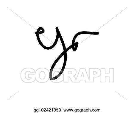 Drawing Y Letter Signature Logo Clipart Drawing Gg102421850 Gograph
