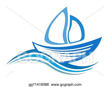 Vector Stock - Yacht icon, the silhouette of the vector