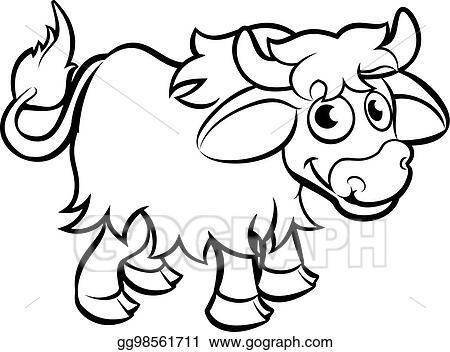 Eps Illustration Yak Cartoon Character Vector Clipart Gg98561711