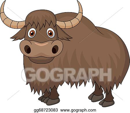 Eps Illustration Yak Cartoon Vector Clipart Gg68723083 Gograph