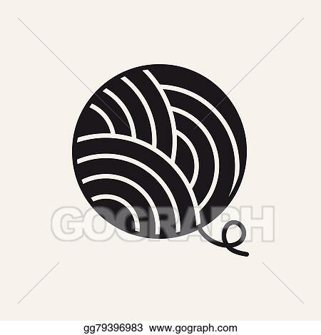 vector illustration yarn ball icon stock clip art gg79396983