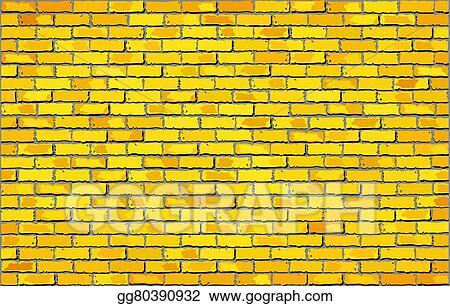 Stock Illustration - Yellow brick wall. Clipart Drawing gg80390932 ...