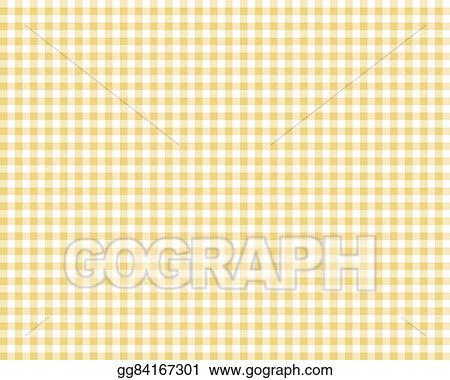 Yellow Checkered Picnic Tablecloth
