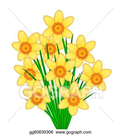 Stock illustration yellow daffodil flowers bunch clipart yellow daffodil flowers bunch mightylinksfo