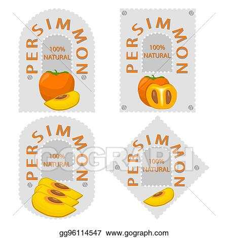 eps vector yellow fruit persimmon stock clipart illustration gg96114547 gograph gograph