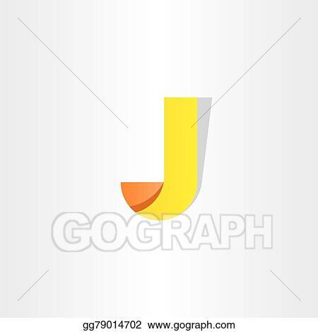 Vector Illustration Yellow Letter J Symbol Design Logo J Eps