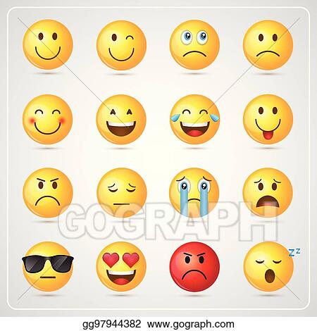 vector illustration yellow smiling cartoon face people emotion icon set eps clipart gg97944382 gograph https www gograph com clipart license summary gg97944382