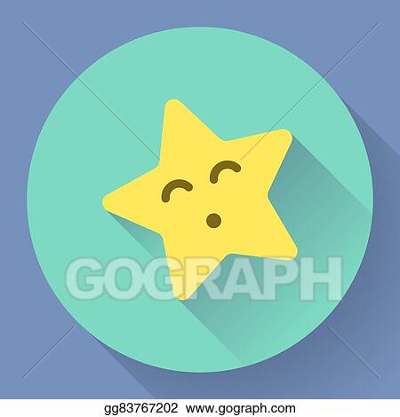 Vector Stock Yellow Star With Kiss Face Vector Character Clipart