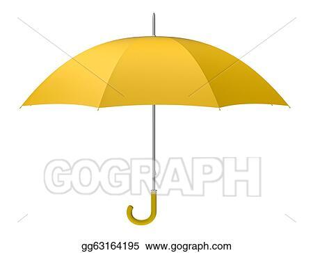 Stock Illustration - Yellow umbrella. Clipart gg63164195 ...