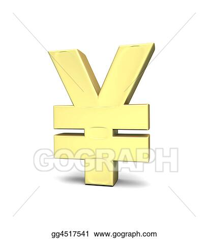 Stock Illustration Yen Currency Symbol Clipart Gg4517541 Gograph