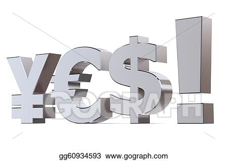 Clip Art Yes To The Yen Euro And Dollar Stock Illustration