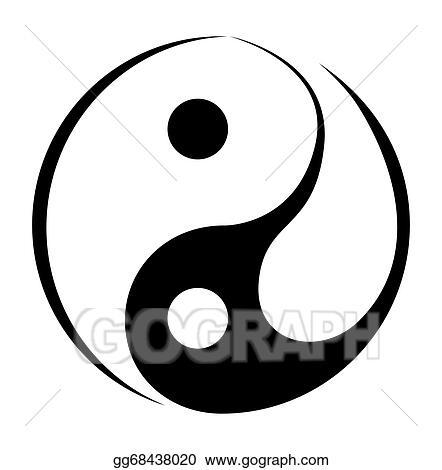vector art yin and yang simple symbol eps clipart gg68438020 rh gograph com Yin Yang Shape Yin Yang Symbol