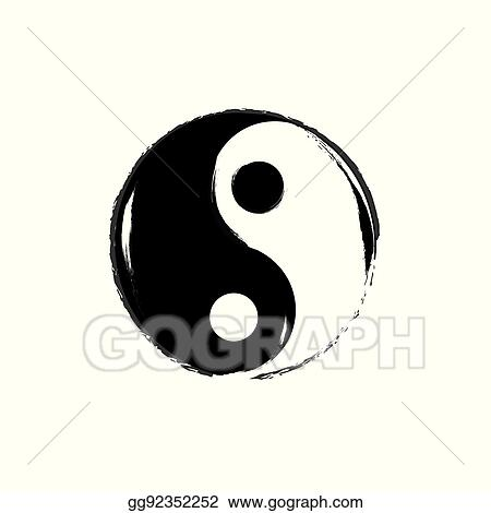 Vector Art Yin Yang Symbol Vector Clipart Drawing Gg92352252
