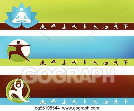 eps illustration yoga background templates vector clipart rh gograph com Microsoft Templates Clip Art Tools Clip Art