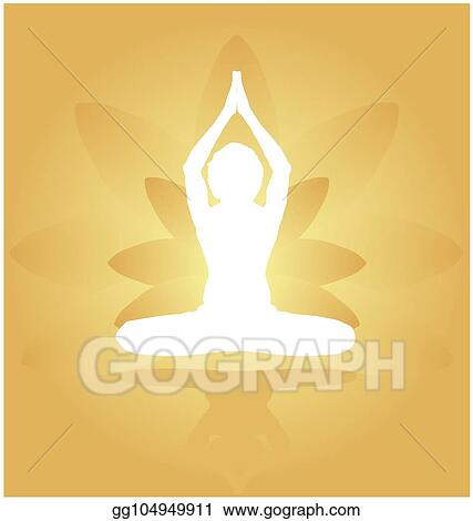 Vector Stock Yoga Day Meditation Parvastasna Pose Banner Against Golden Lotus Petals With Beautiful Gradient Vector Design Colour On Golden Background Clipart Illustration Gg104949911 Gograph